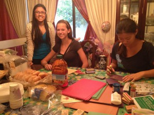 Tanya and friends working on HILF fundraising activities